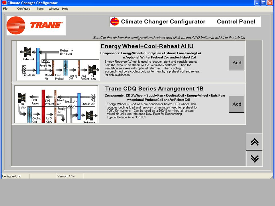 Before I leave the discussion of CDQ I want to demonstrate a tremendous new tool that is available. It's called the Climate Changer Configurator Program.