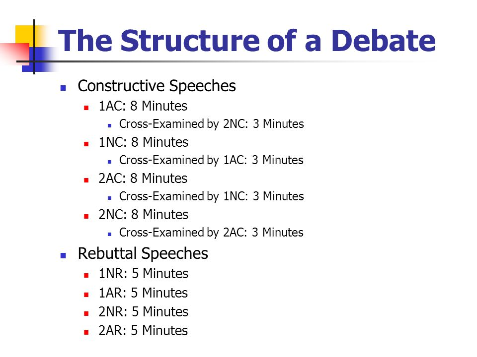 The Structure of a Debate