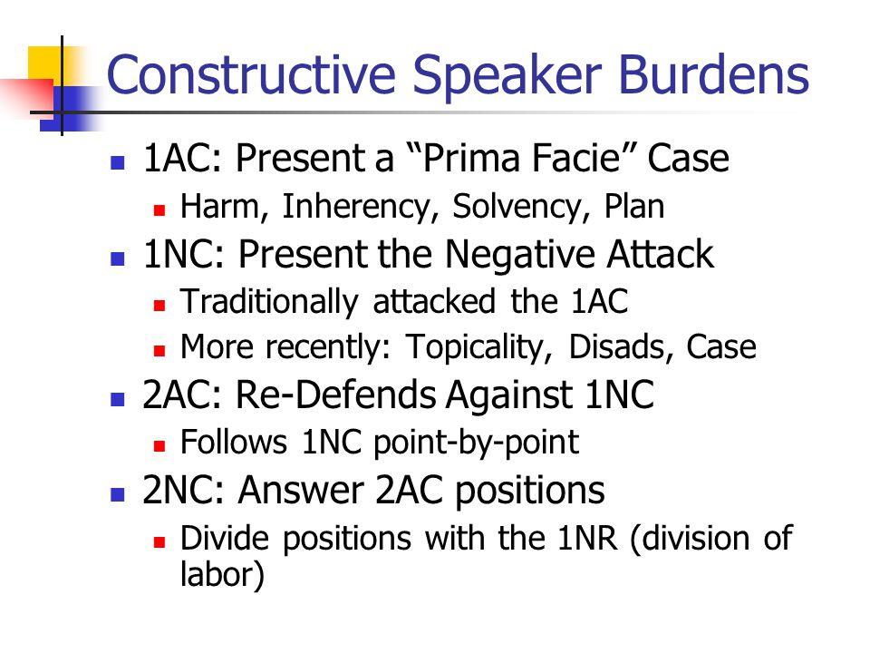 Constructive Speaker Burdens