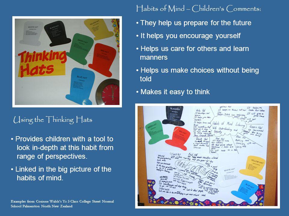 Habits of Mind – Children's Comments: