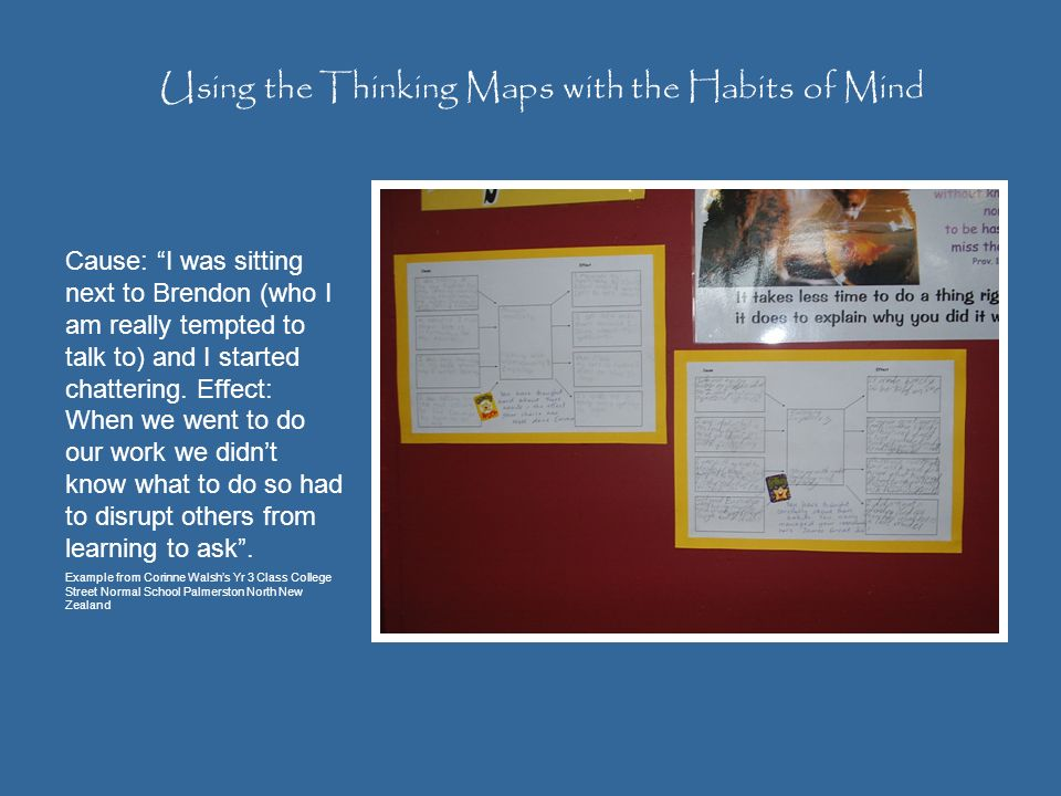 Using the Thinking Maps with the Habits of Mind