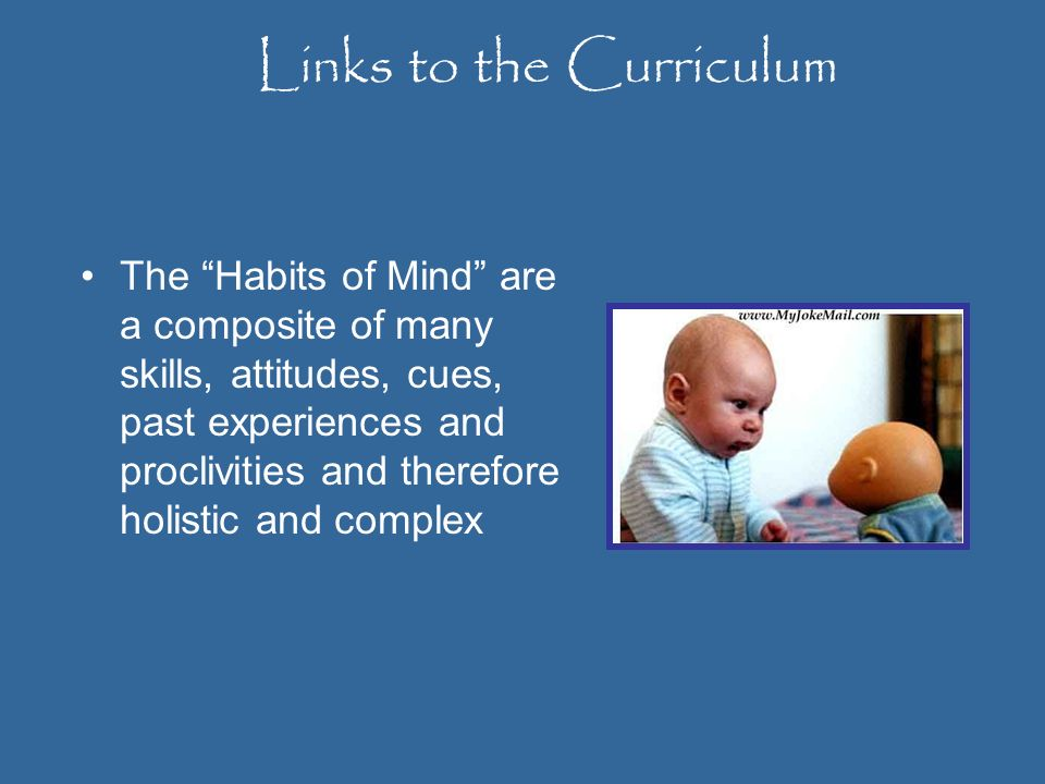 Links to the Curriculum