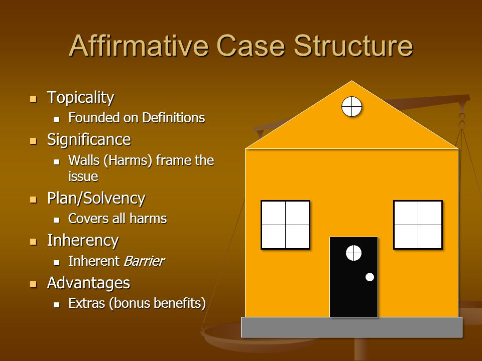 Affirmative Case Structure