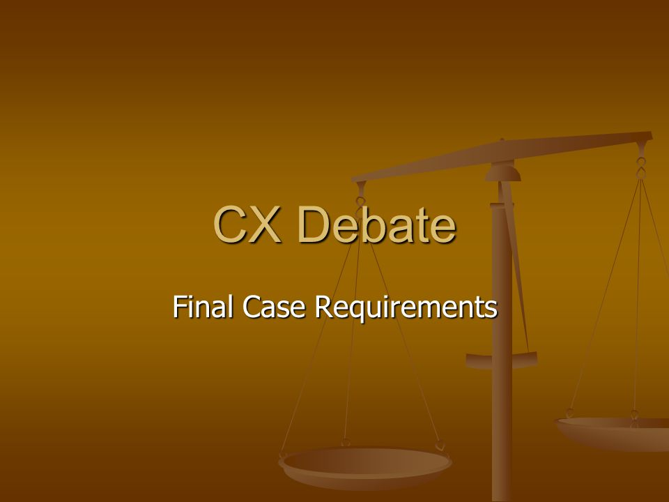 Final Case Requirements