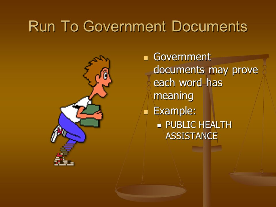 Run To Government Documents
