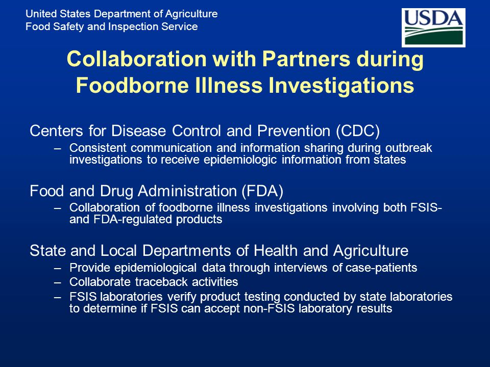 Collaboration with Partners during Foodborne Illness Investigations