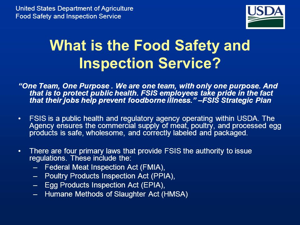 What is the Food Safety and Inspection Service