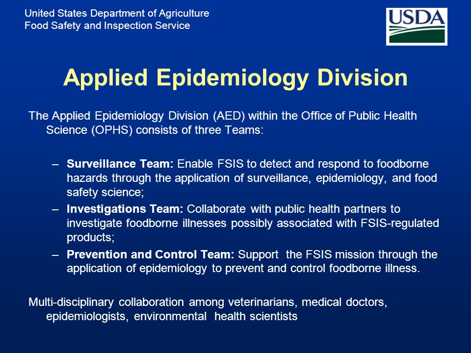 Applied Epidemiology Division