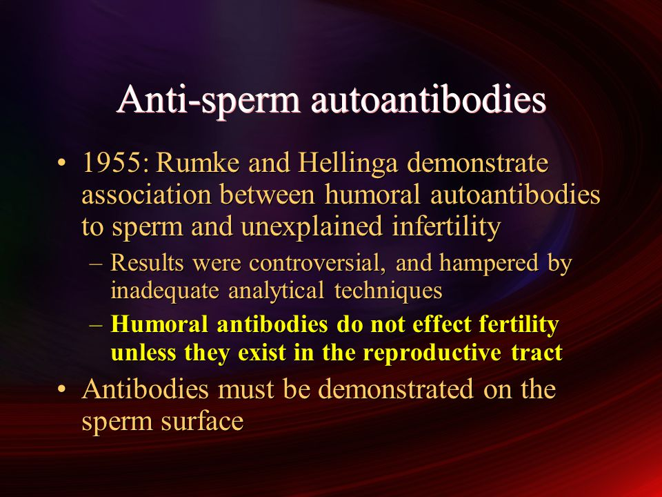 Anti-sperm autoantibodies