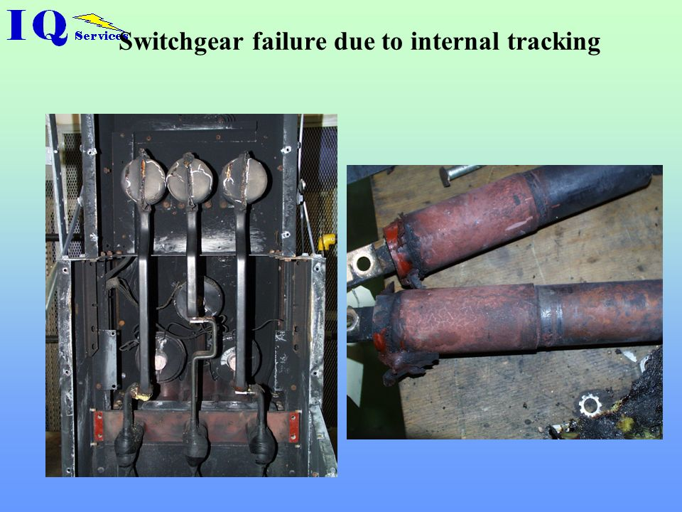 Switchgear failure due to internal tracking