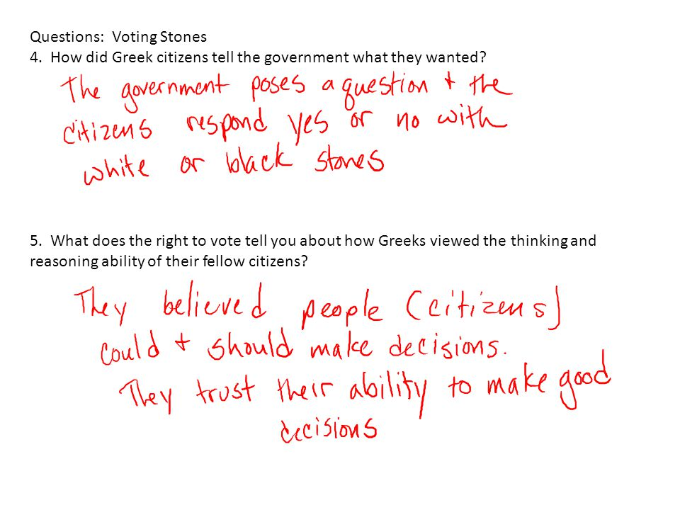 Questions: Voting Stones