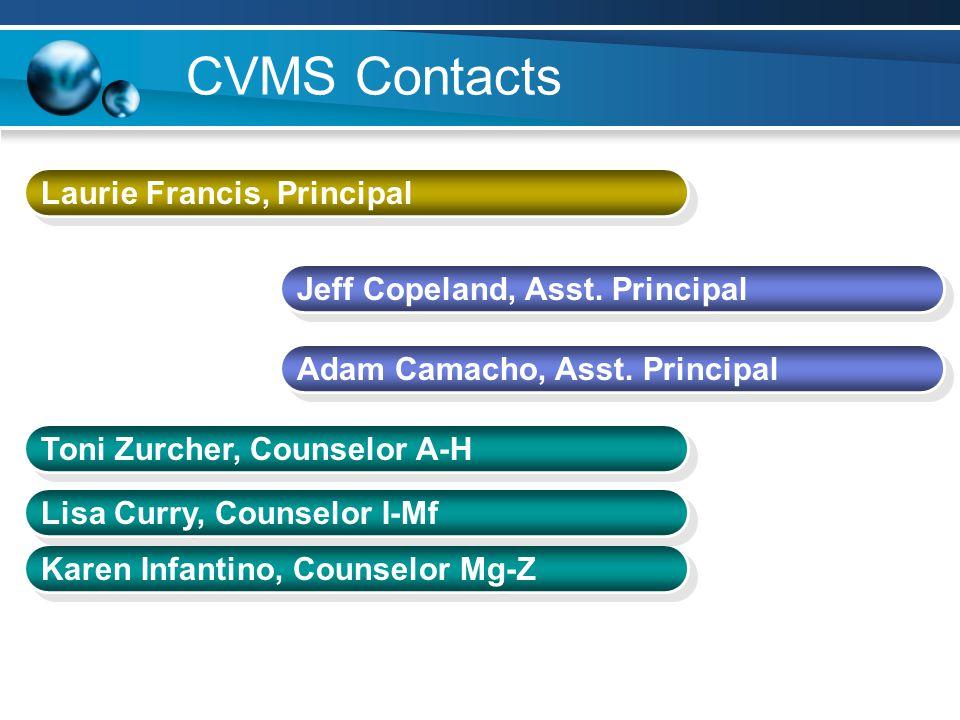CVMS Contacts Laurie Francis, Principal Jeff Copeland, Asst. Principal
