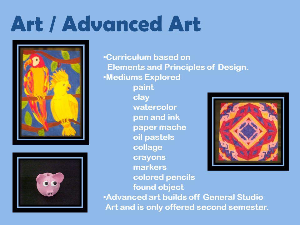 Art / Advanced Art Curriculum based on