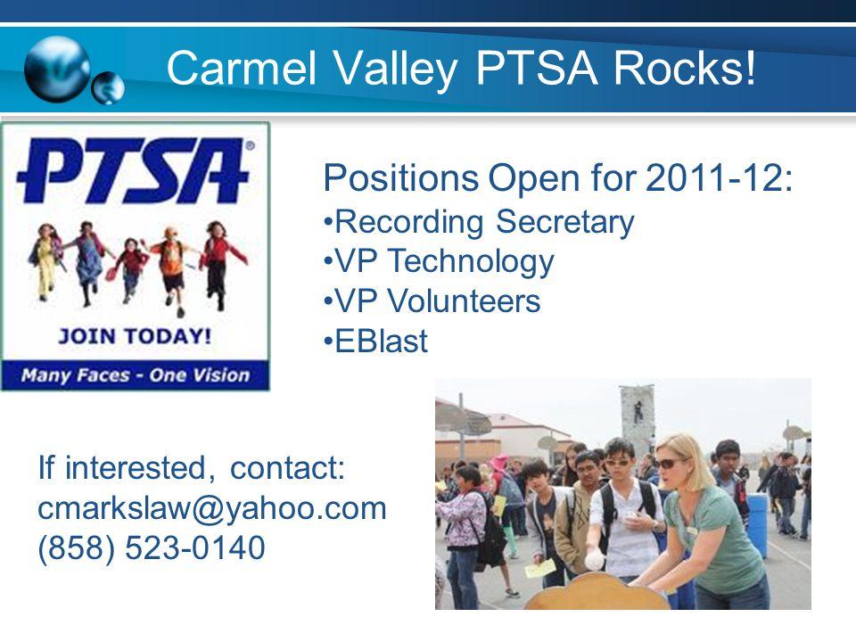 Carmel Valley PTSA Rocks!
