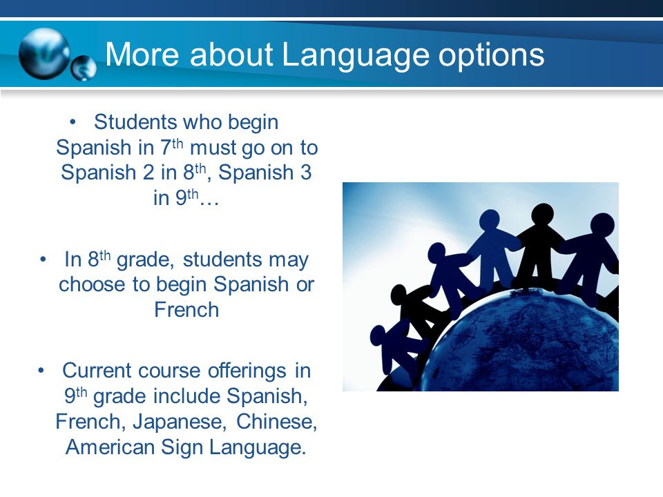 More about Language options