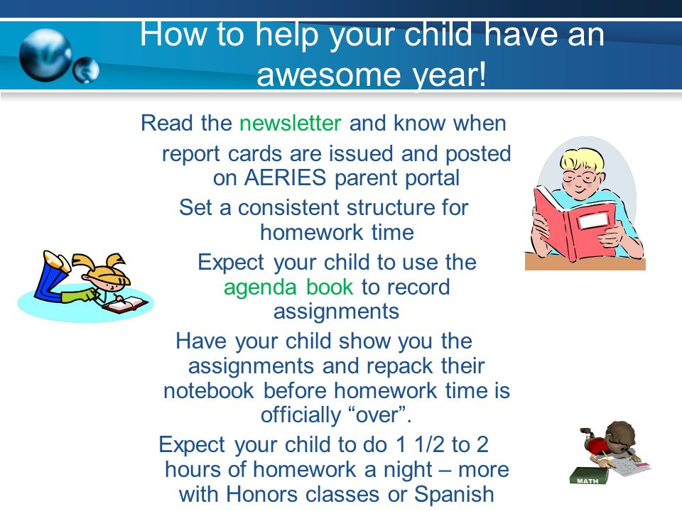 How to help your child have an awesome year!