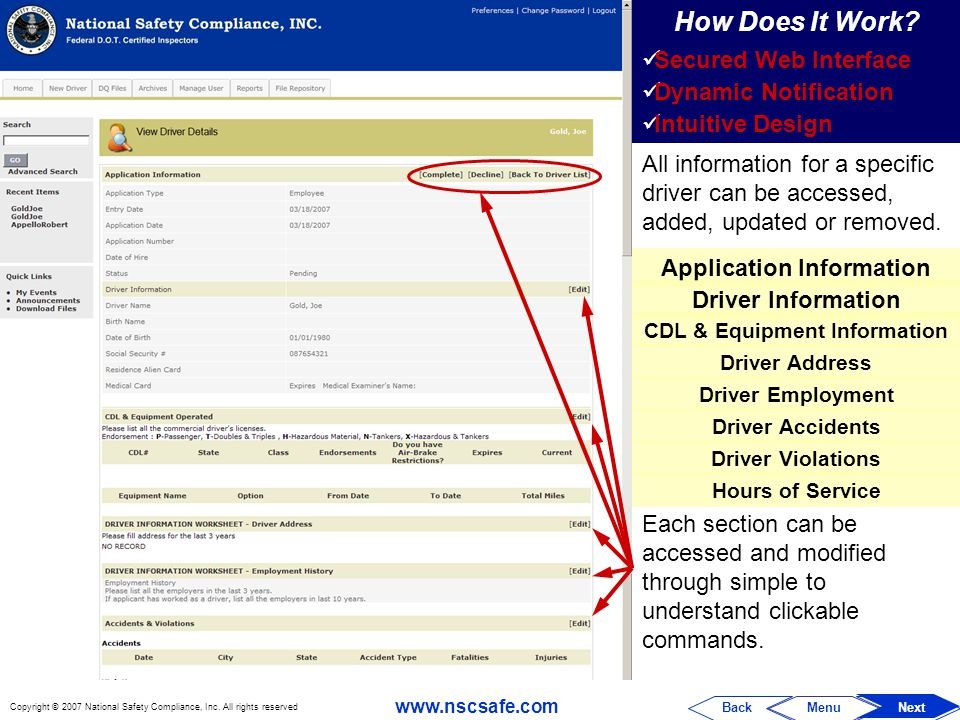 Application Information CDL & Equipment Information