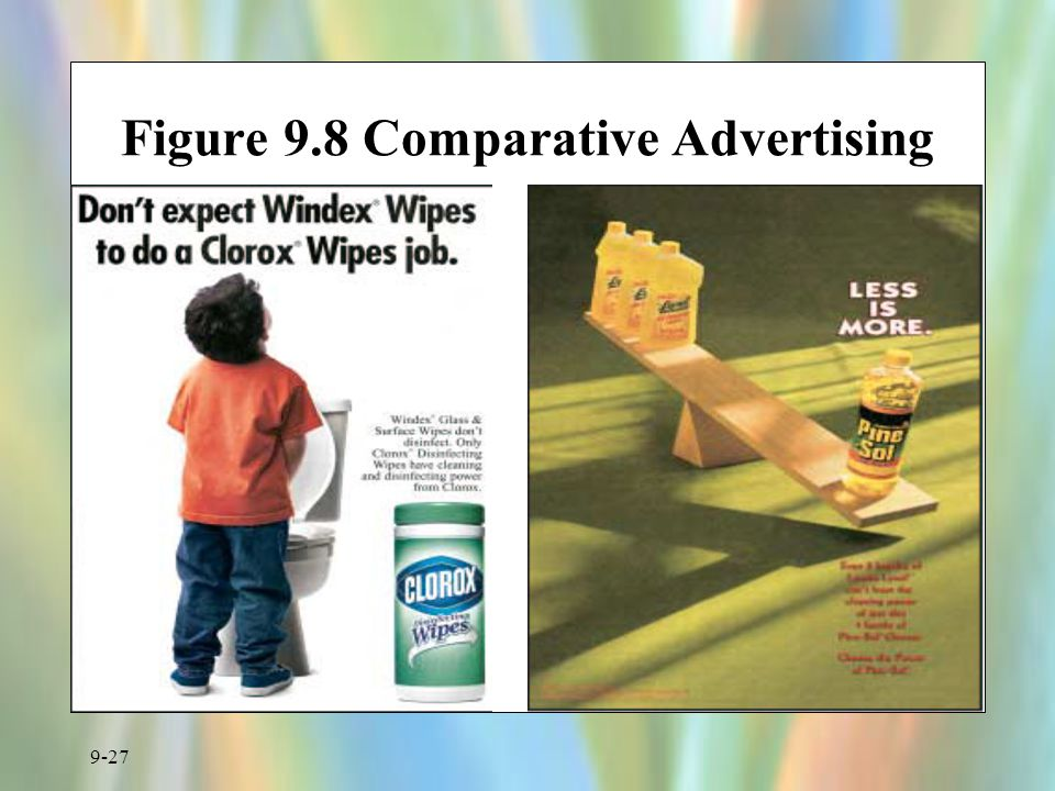 Figure 9.8 Comparative Advertising