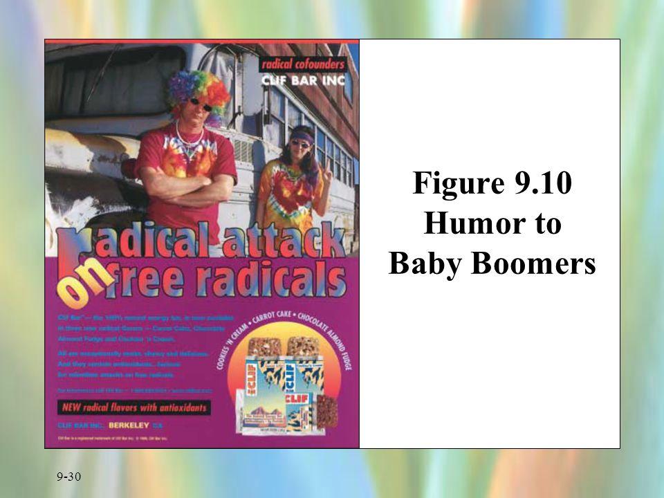 Figure 9.10 Humor to Baby Boomers