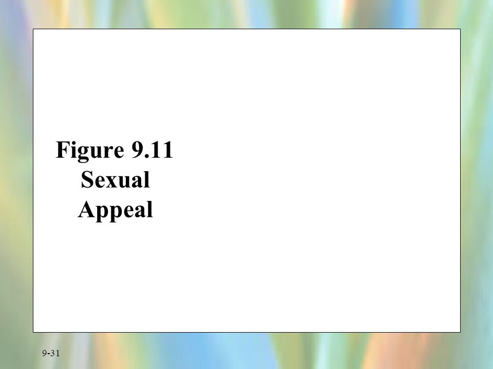 Figure 9.11 Sexual Appeal