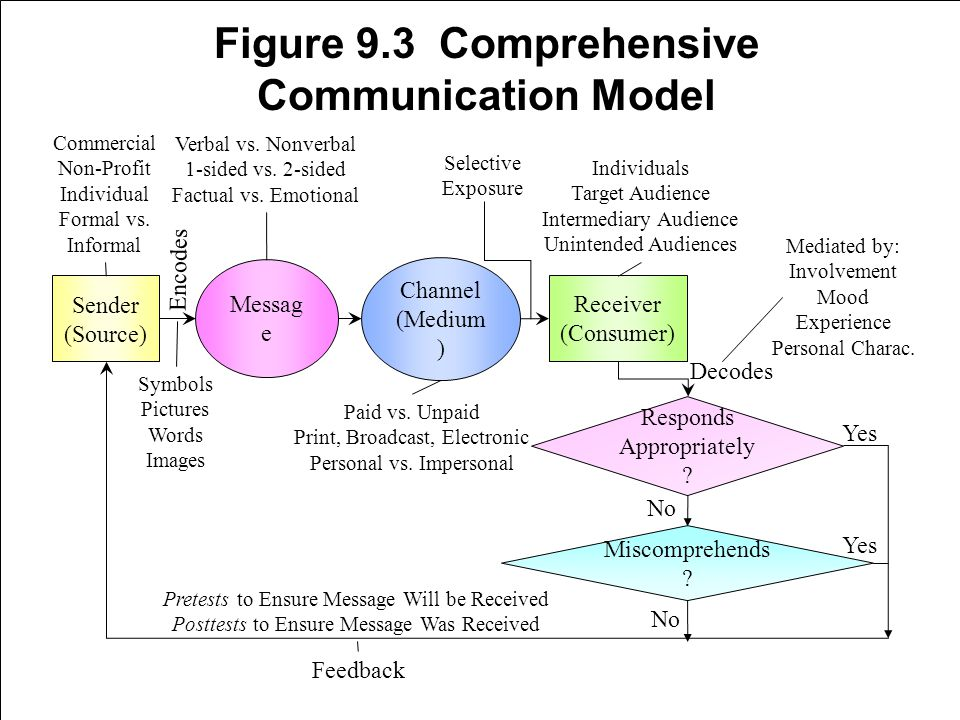 Figure 9.3 Comprehensive Communication Model