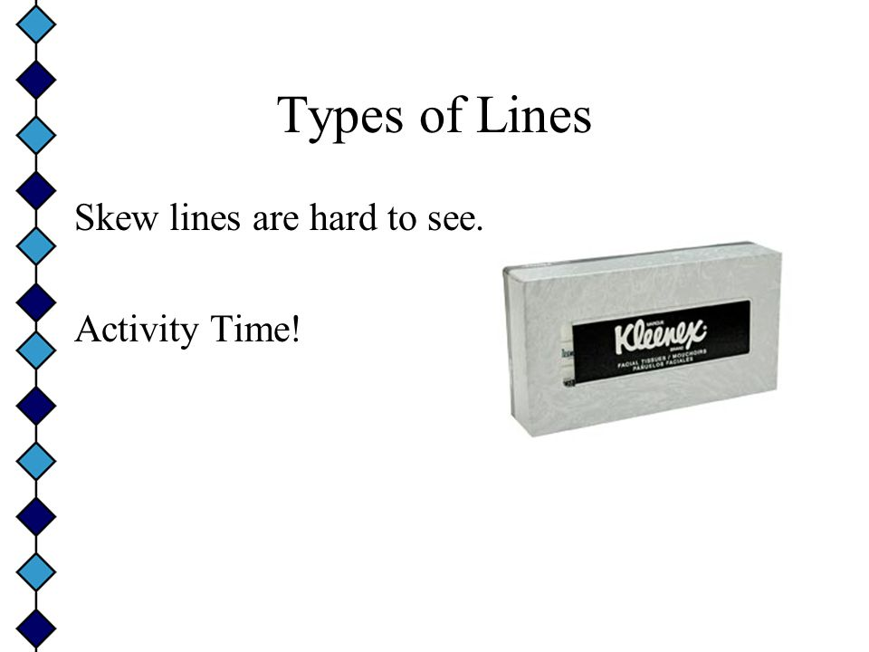 Types of Lines Skew lines are hard to see. Activity Time!