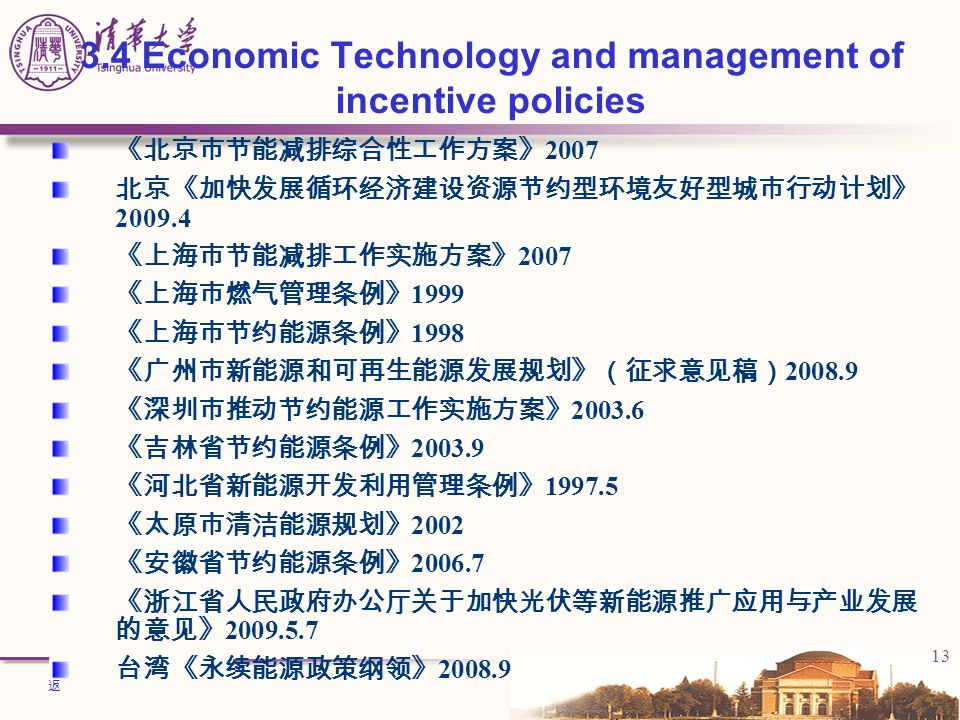 3.4 Economic Technology and management of incentive policies