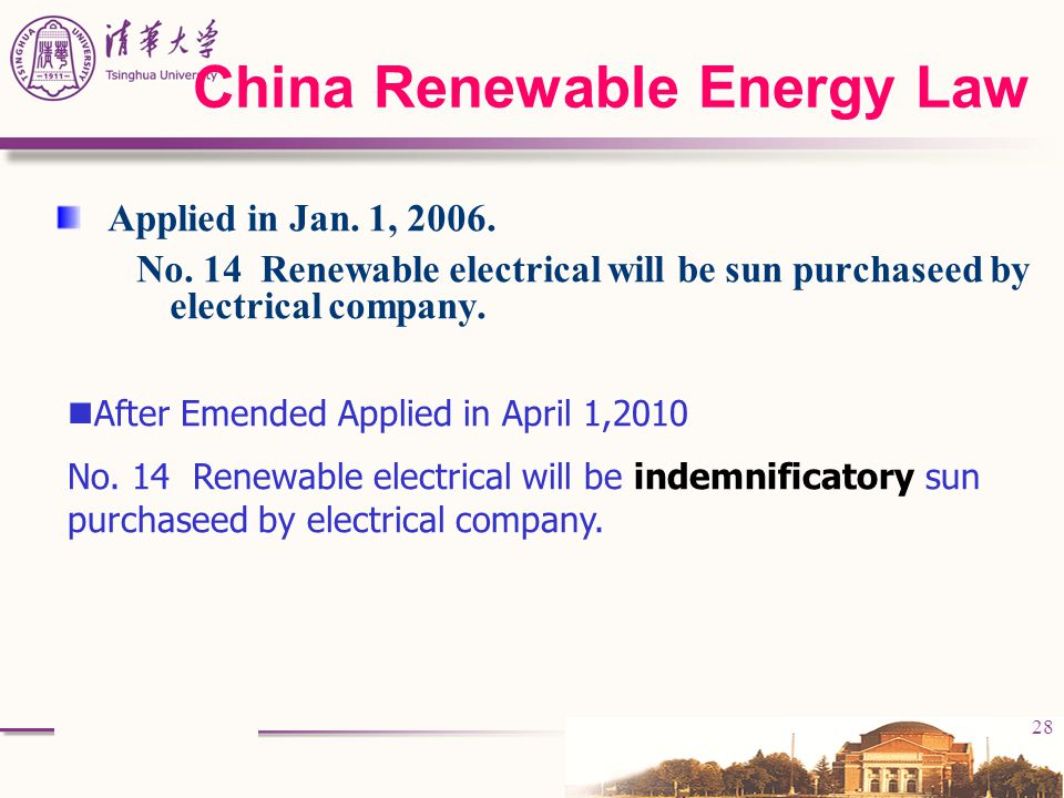 China Renewable Energy Law
