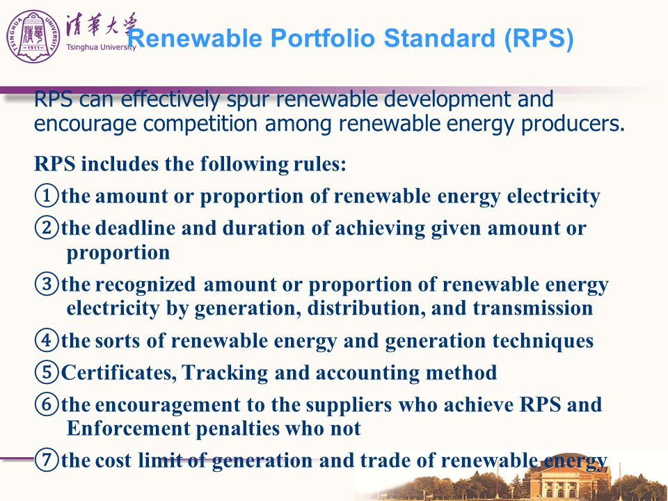 Renewable Portfolio Standard (RPS)