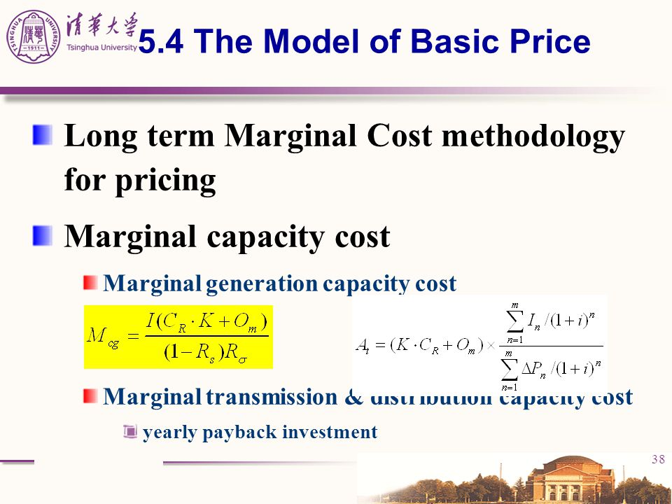 5.4 The Model of Basic Price