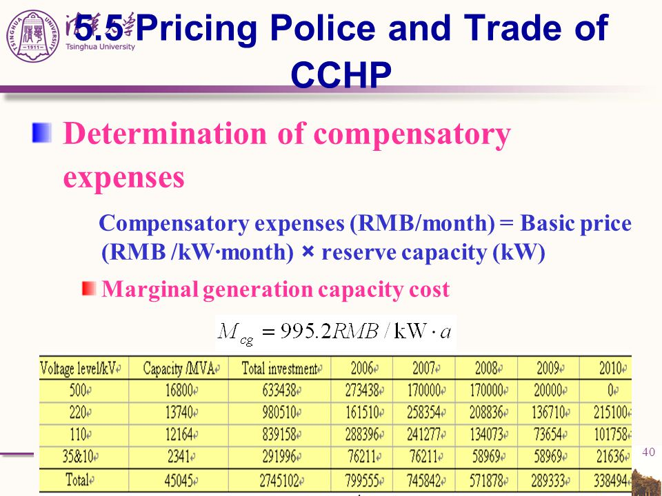 5.5 Pricing Police and Trade of CCHP