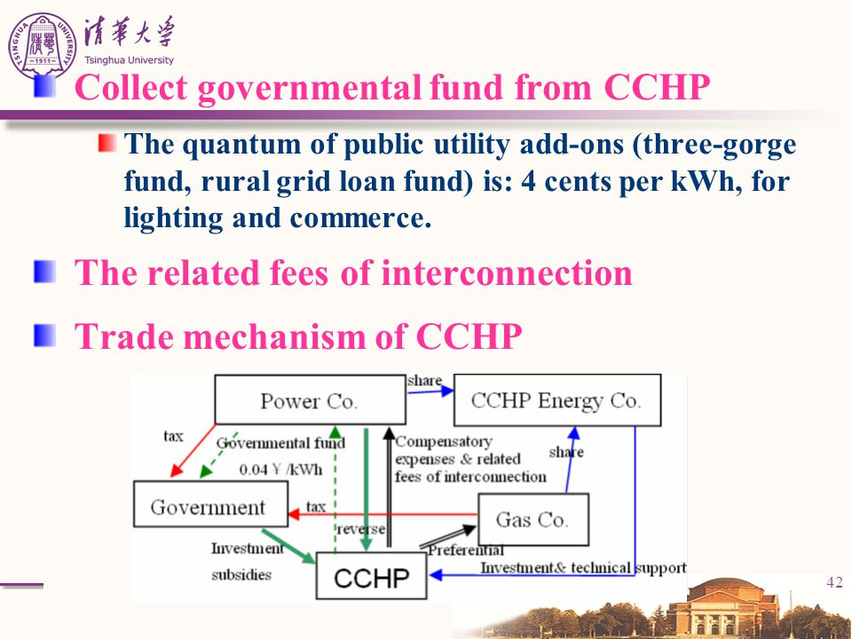 Collect governmental fund from CCHP
