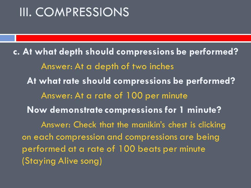 III. COMPRESSIONS