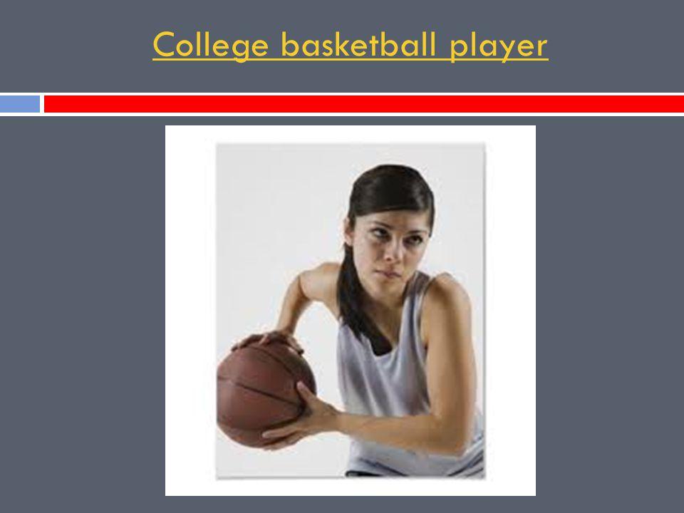 College basketball player