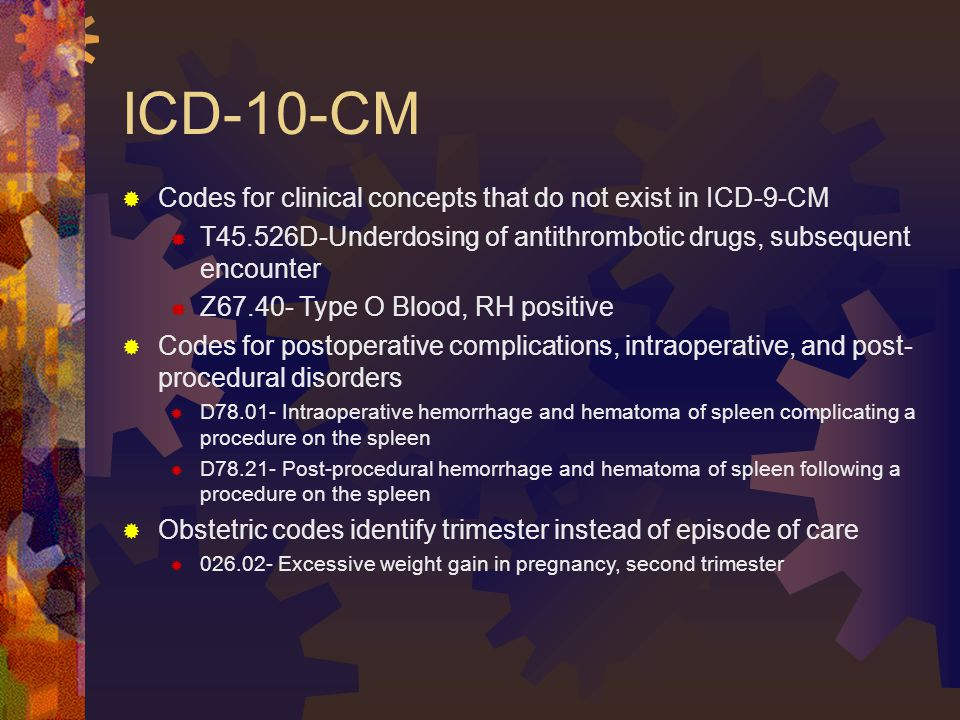 ICD-10-CM Codes for clinical concepts that do not exist in ICD-9-CM