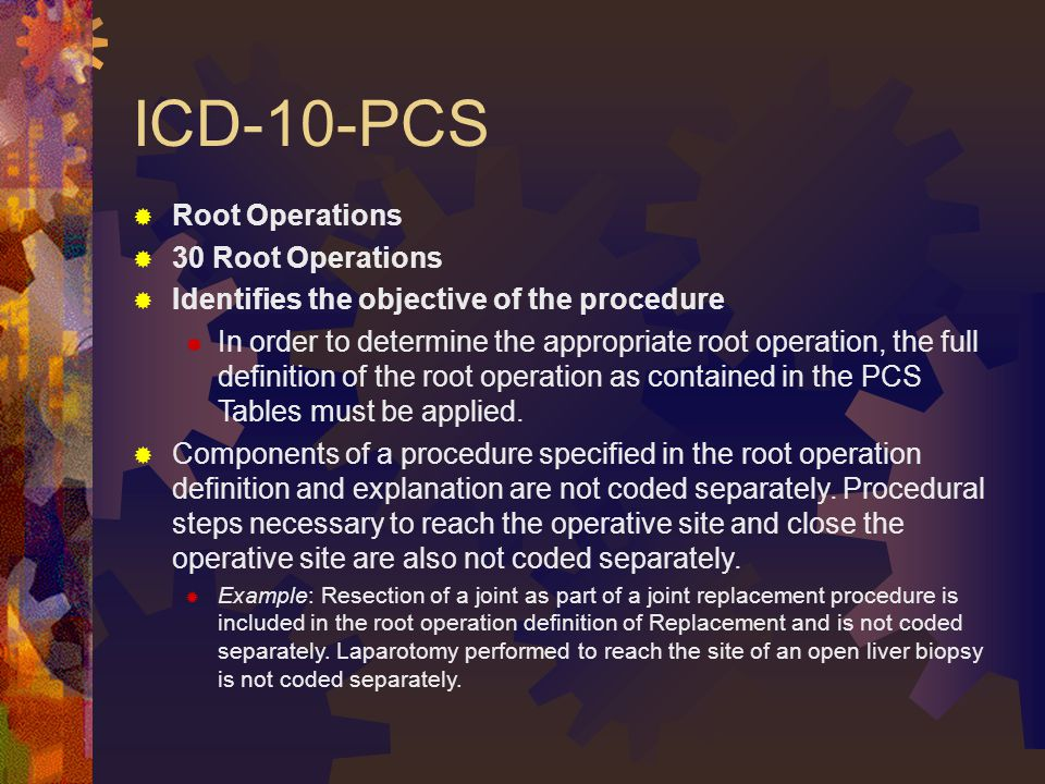 ICD-10-PCS Root Operations 30 Root Operations