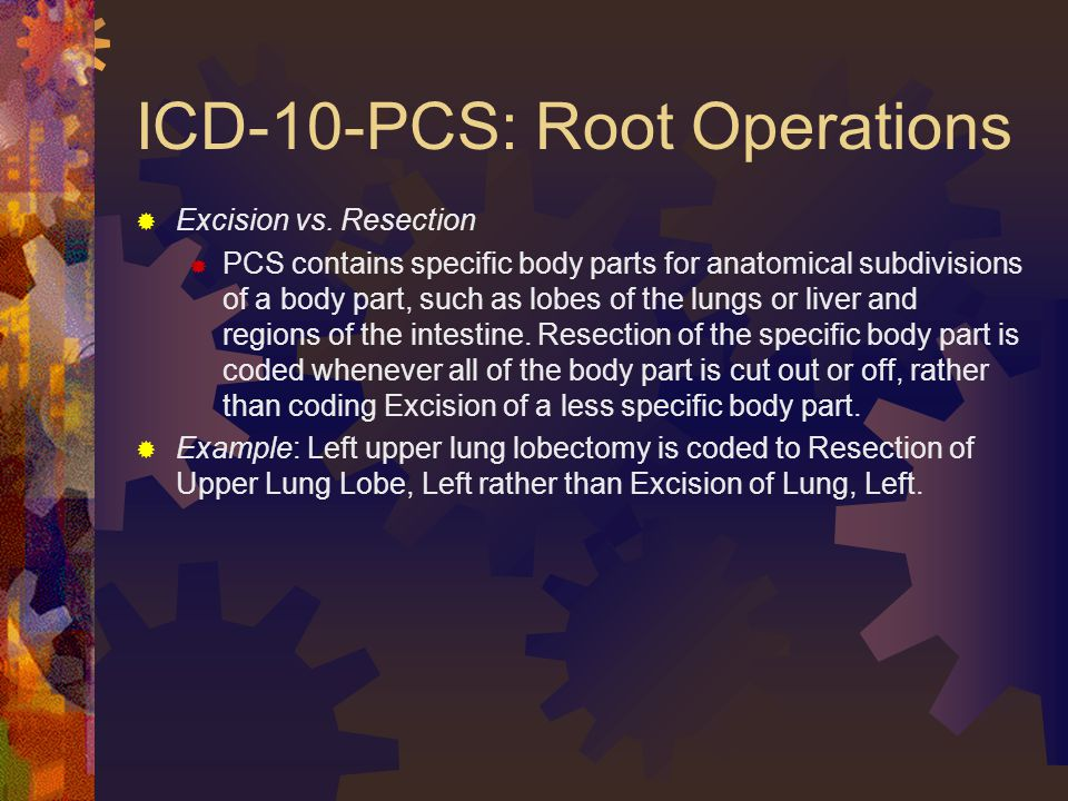 ICD-10-PCS: Root Operations