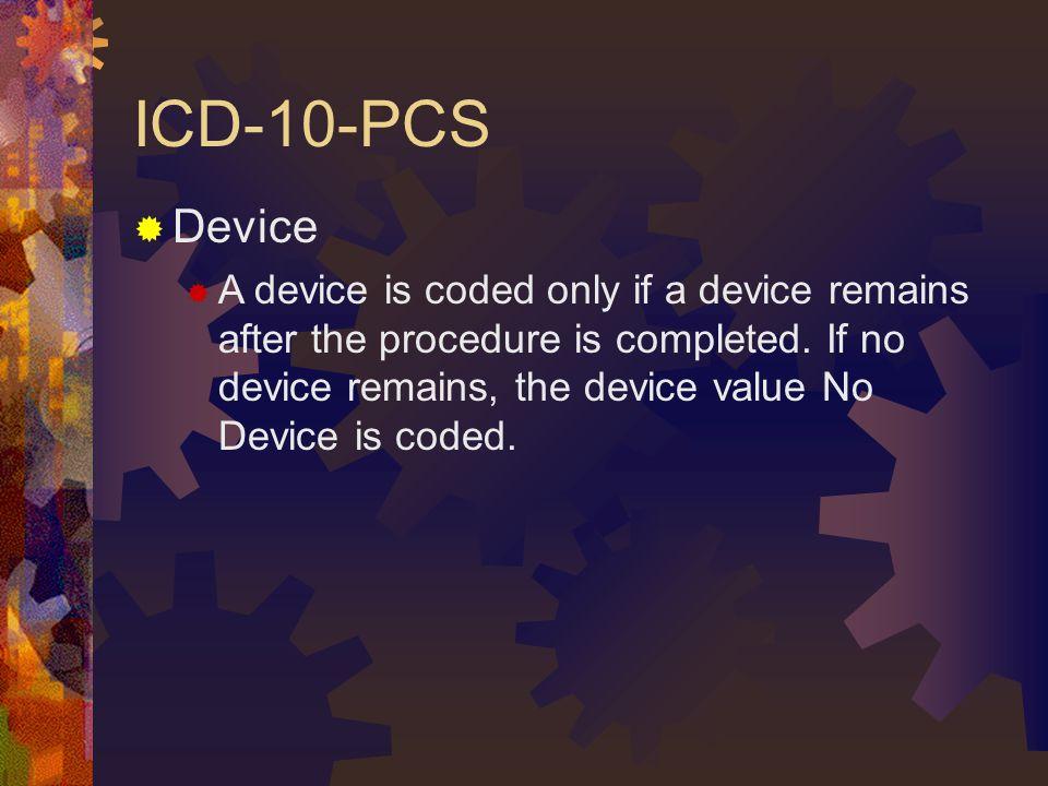 ICD-10-PCS Device.