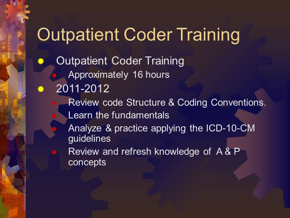 Outpatient Coder Training