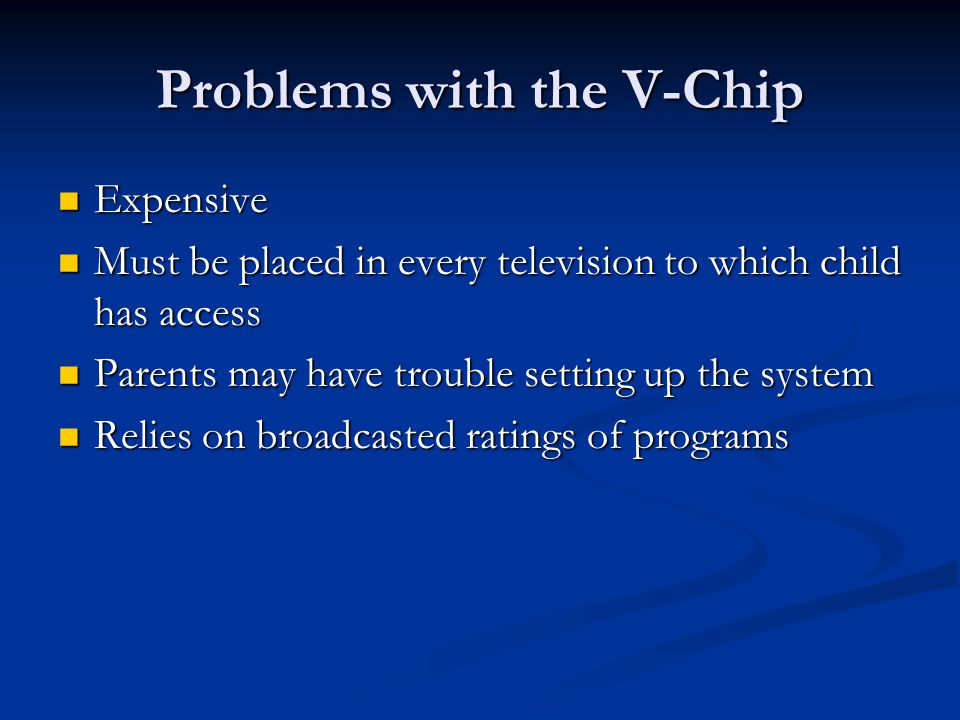 Problems with the V-Chip
