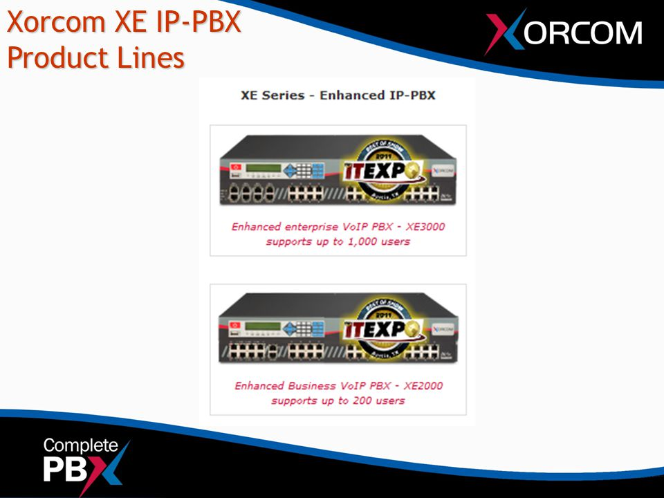 Xorcom XE IP-PBX Product Lines