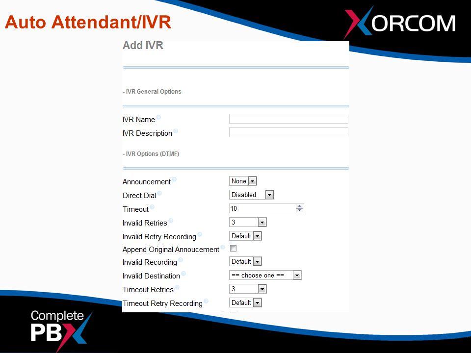 Auto Attendant/IVR