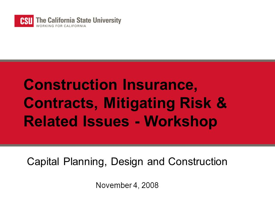 Capital Planning, Design and Construction November 4, 2008