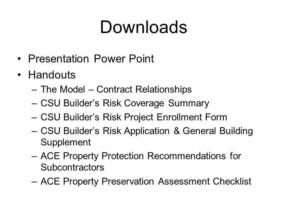Downloads Presentation Power Point Handouts