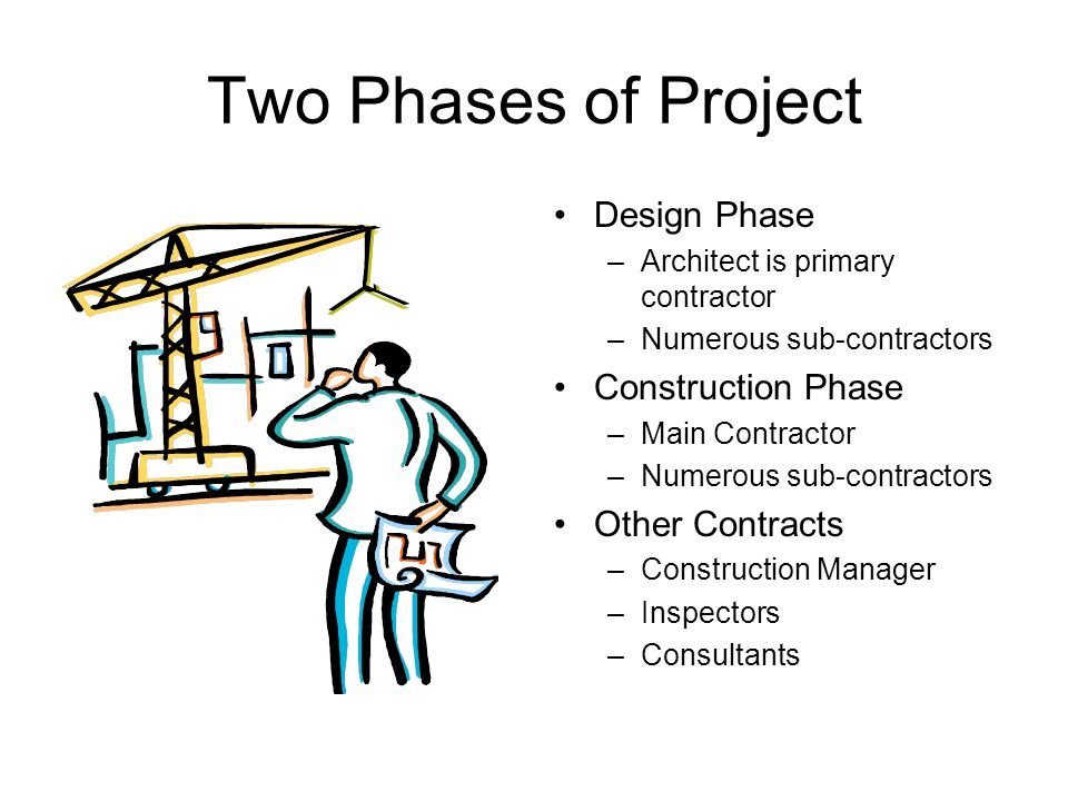 Two Phases of Project Design Phase Construction Phase Other Contracts