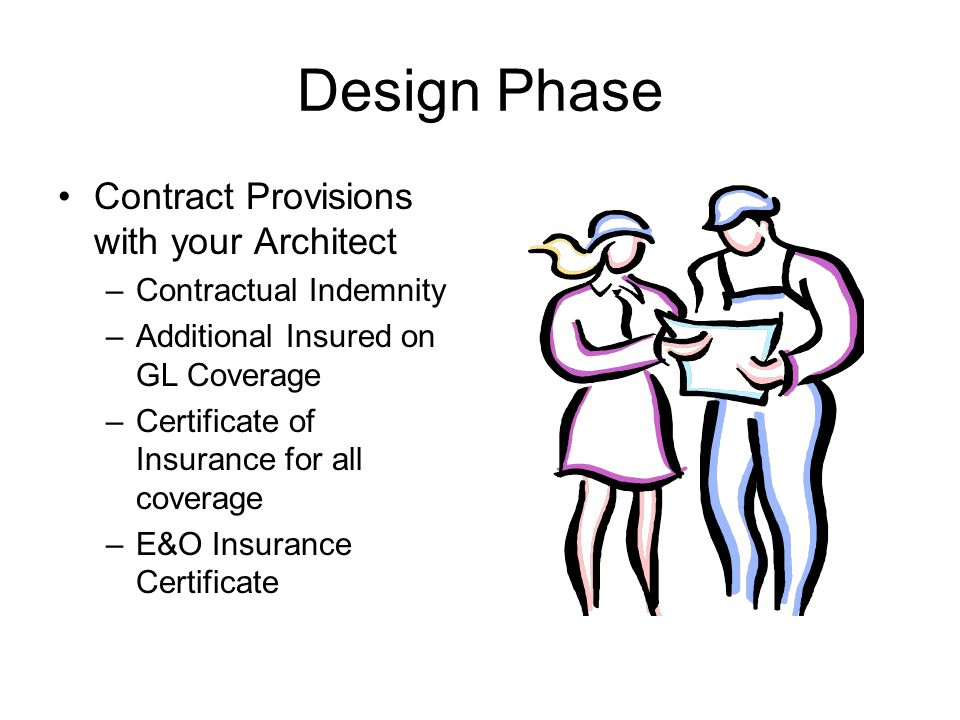 Design Phase Contract Provisions with your Architect