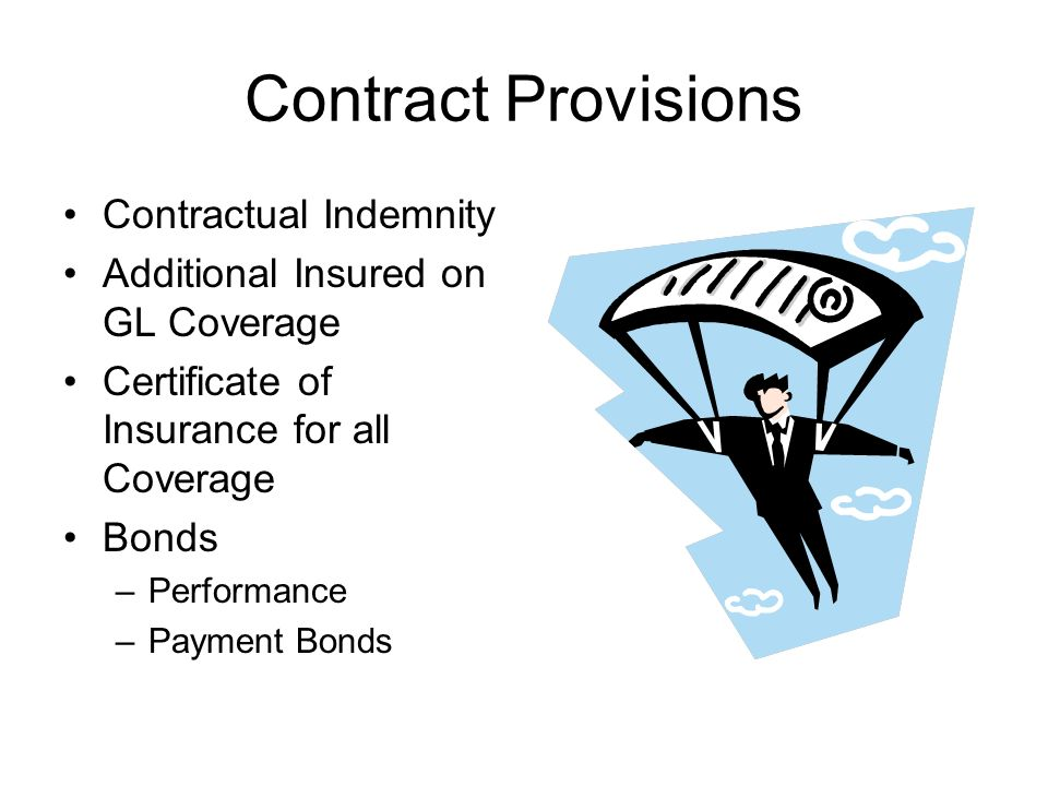 Contract Provisions Contractual Indemnity