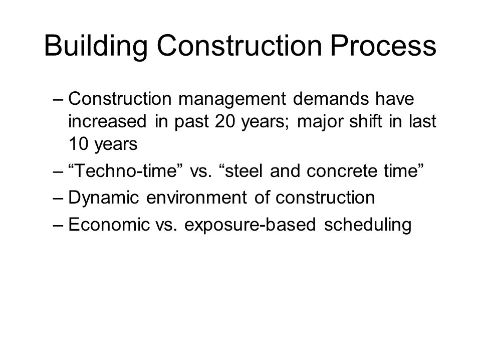 Building Construction Process