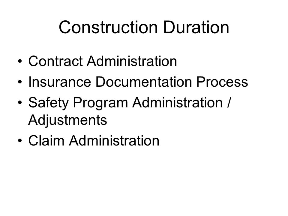 Construction Duration