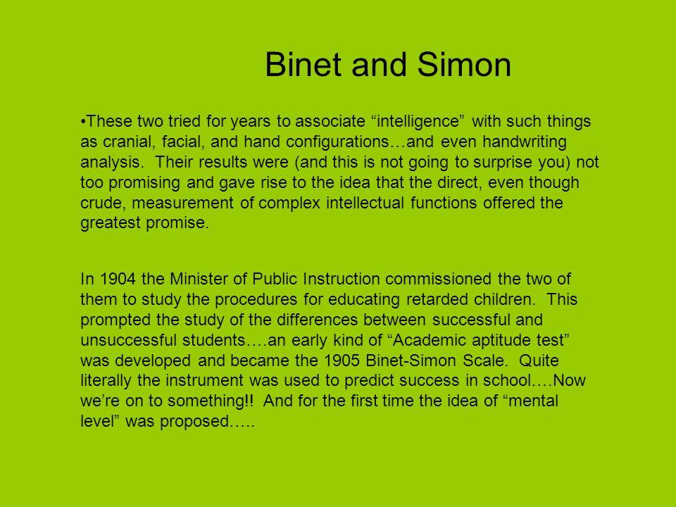 Binet and Simon